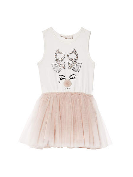 REINDEER TUTU DRESS - POWDER
