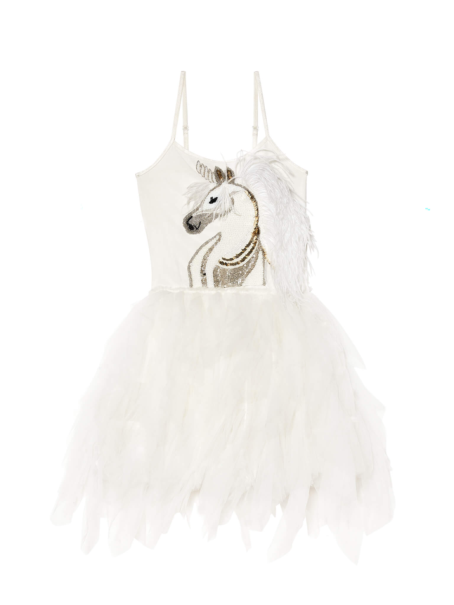 Tdm4892 white unicorn tutu dress 01