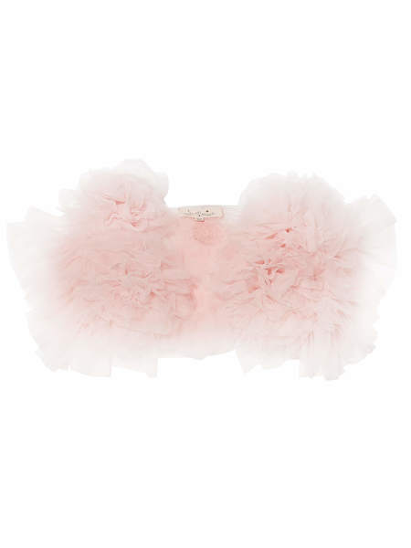 FLOWERETTE RUFFLE SHRUG - PORCELAIN PINK