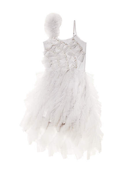 LITTLE TREASURES TUTU DRESS - FRENCH SILVER