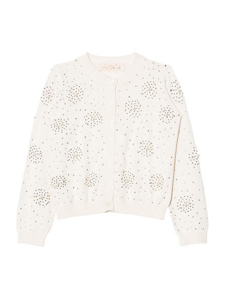 DIAMONDS AND PEARLS CARDIGAN - MILK