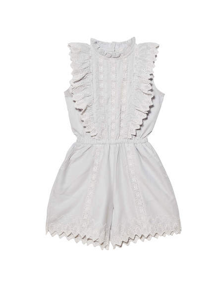 FLORENTINE PLAYSUIT - FRENCH SILVER