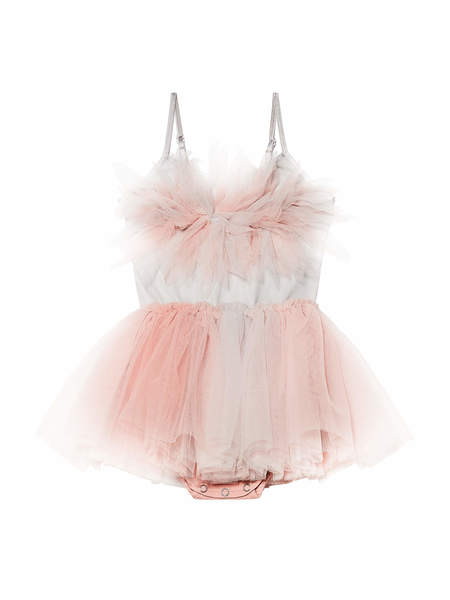 BÉBÉ - PASSION PETAL TUTU DRESS - CARNATION