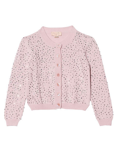 BÉBÉ - DIAMONDS AND PEARLS CARDIGAN - PORCELAIN PINK