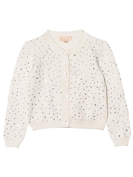 BÉBÉ - DIAMONDS AND PEARLS CARDIGAN - MILK