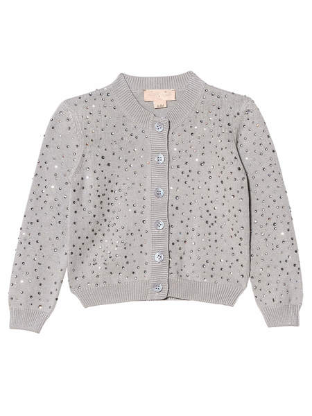 BÉBÉ - DIAMONDS AND PEARLS CARDIGAN - FRENCH SILVER